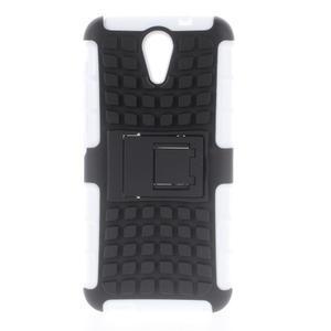 Outdoor odolný obal na mobil HTC Desire 620 - bílý - 1