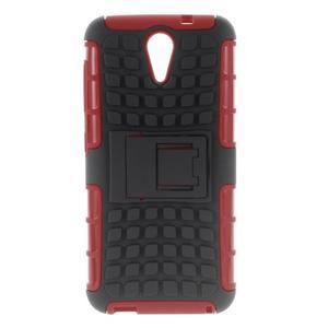 Outdoor odolný obal na mobil HTC Desire 620 - červený - 1