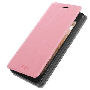 Růžové PU kožené pouzdro na Huawei Y635 - 1