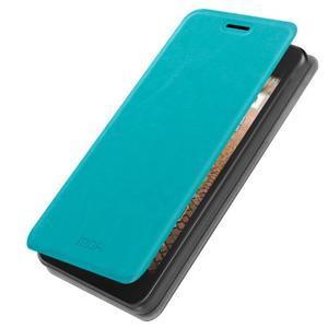 Modré PU kožené pouzdro na Huawei Y635 - 1