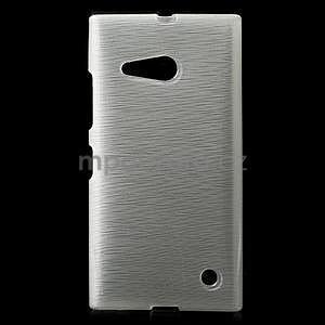 Gelový obal Brush na Nokia Lumia 730/735 - bílý - 1