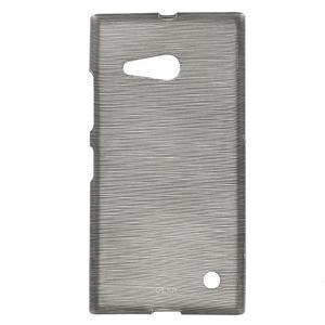 Gelový obal Brush na Nokia Lumia 730/735 - šedý - 1