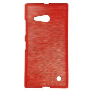 Gelový obal Brush na Nokia Lumia 730/735 - červený - 1