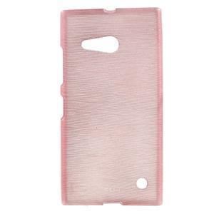 Gelový obal Brush na Nokia Lumia 730/735 - růžový - 1