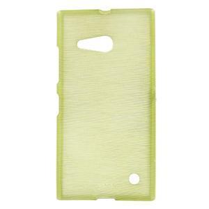 Gelový obal Brush na Nokia Lumia 730/735 - zelený - 1