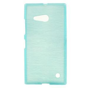 Gelový obal Brush na Nokia Lumia 730/735 - modrý - 1