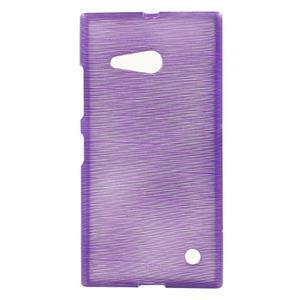 Gelový obal Brush na Nokia Lumia 730/735 - fialový - 1