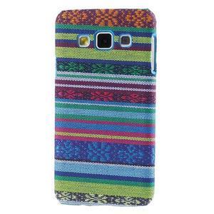 Obal potažený látkou na Samsung Galaxy A3 - mix barev I - 1
