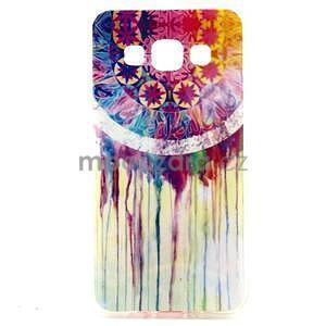 Gelový obal na Samsung Galaxy A3 - stékající barvy - 1