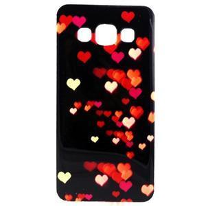 Gelový obal na Samsung Galaxy A3 - srdíčka - 1