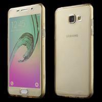 Gelový obal 2v1 pro zadní kryt a displej na Samsung Galaxy A5 (2016) - zlatý - 1/7
