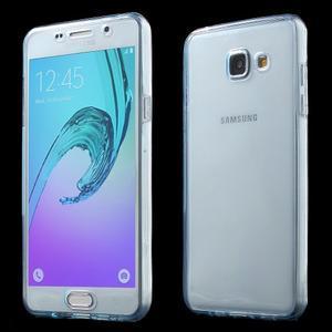 Gelový obal 2v1 pro zadní kryt a displej na Samsung Galaxy A5 (2016) - modrý - 1