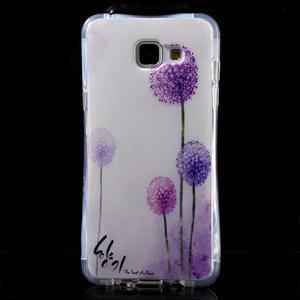 Tvarovaný gelový obal na Samsung Galaxy A5 (2016) - fialové pampelišky - 1