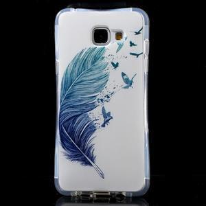 Tvarovaný gelový obal na Samsung Galaxy A5 (2016) - ptačí peříčko - 1