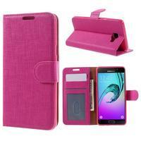 Cloth peněženkové pouzdro na Samsung Galaxy A5 (2016) - rose - 1/7