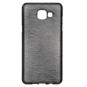 Brush gelový obal na Samsung Galaxy A5 (2016) - černý - 1