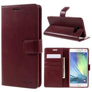 Luxusní PU kožené pouzdro na mobil Samsung Galaxy A5 (2016) - vínové - 1