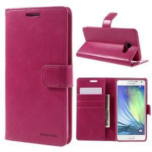 Luxusní PU kožené pouzdro na mobil Samsung Galaxy A5 (2016) - rose - 1