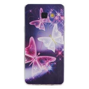 Ultratenký gelový slim obal na Samsung Galaxy A5 (2016) - kouzelní motýlci - 1