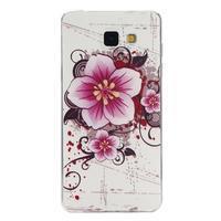Ultratenký gelový slim obal na Samsung Galaxy A5 (2016) - květ - 1/4