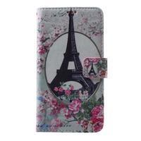 Koženkové pouzdro na Samsung Galaxy A5 (2016) - Eiffelova věž - 1/6