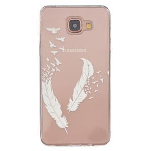Transparentní gelový obal na Samsung Galaxy A5 (2016) - ptačí peříčka - 1