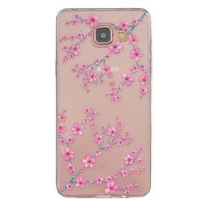 Transparentní gelový obal na Samsung Galaxy A5 (2016) - květy švestky - 1