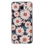 Gelový obal s koženkovým vzorem na Samsung Galaxy A5 (2016) - sedmikrásky - 1/6