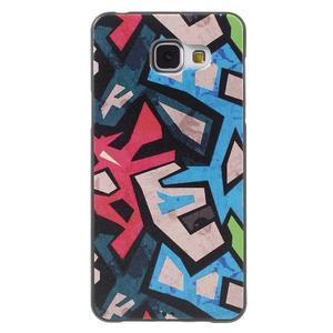 Gelový obal s koženkovým vzorem na Samsung Galaxy A5 (2016) - grafity - 1