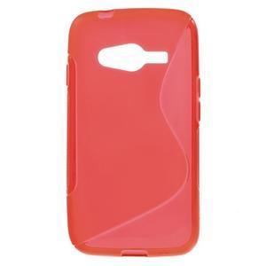 Gelové s-line pouzdro na Samsung Galaxy Ace 4 - červené - 1