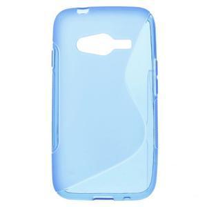Gelové s-line pouzdro na Samsung Galaxy Ace 4 - modré - 1