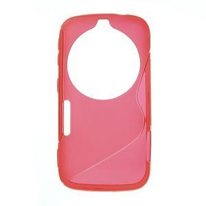 Červený s-line gelový kryt na Samsung Galaxy K Zoom C115 - 1
