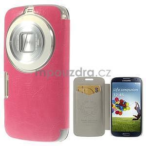 Růžové peněženkové pouzdro na Samsung Galaxy K Zoom C115 - 1