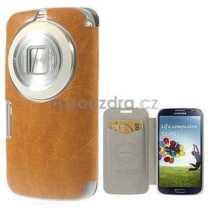 Oranžové peněženkové pouzdro na Samsung Galaxy K Zoom C115 - 1