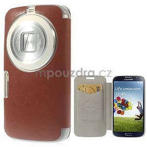 Hnědé peněženkové pouzdro na Samsung Galaxy K Zoom C115 - 1