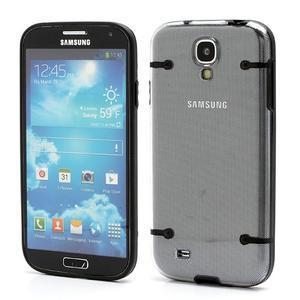 Obal na mobil se svítícími hranami na Samsung Galaxy S4 - černé - 1