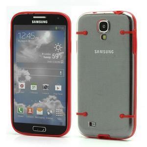 Obal na mobil se svítícími hranami na Samsung Galaxy S4 - červené - 1