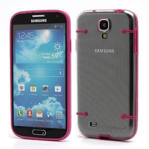 Obal na mobil se svítícími hranami na Samsung Galaxy S4 - rose - 1