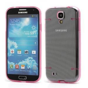 Obal na mobil se svítícími hranami na Samsung Galaxy S4 - růžové - 1