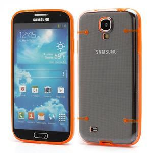 Obal na mobil se svítícími hranami na Samsung Galaxy S4 - oranžové - 1