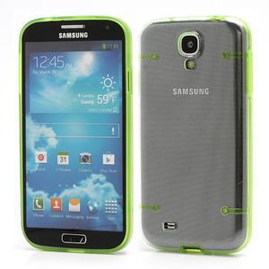 Obal na mobil se svítícími hranami na Samsung Galaxy S4 - zelené - 1
