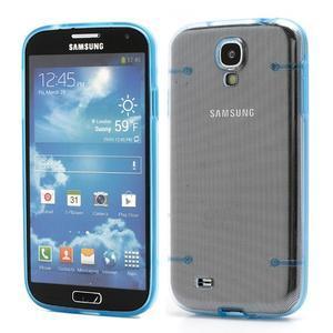 Obal na mobil se svítícími hranami na Samsung Galaxy S4 - modré - 1