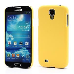 Plastové poudro na Samsung Galaxy S4 - žluté - 1