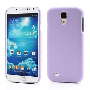 Plastové poudro na Samsung Galaxy S4 - fialové - 1