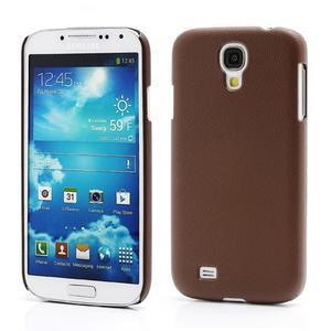 Plastové poudro na Samsung Galaxy S4 - hnedé - 1