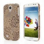 Květinové pouzdro na Samsung Galaxy S4 - hnedé - 1/3
