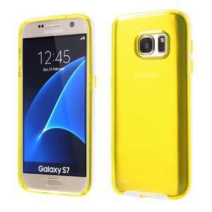 Dvoudílný obal na mobil Samsung Galaxy S7 - žlutý - 1