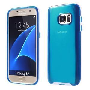 Dvoudílný obal na mobil Samsung Galaxy S7 - modrý - 1