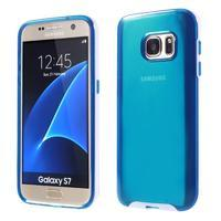 Dvoudílný obal na mobil Samsung Galaxy S7 - modrý - 1/6