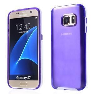 Dvoudílný obal na mobil Samsung Galaxy S7 - fialový - 1